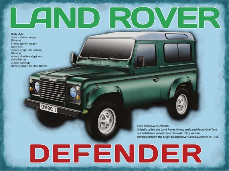 Land-Rover-Defender-Metal-Wall-Sign