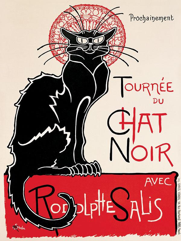Le Chat Noir Metal Wall Sign