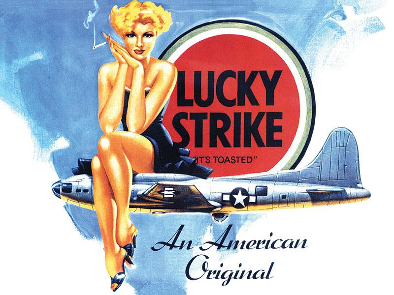 Lucky Strike Cigarettes Sign