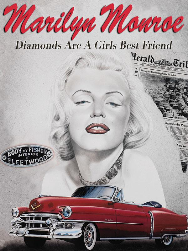 Marilyn Monroe Diamonds are a girls best friend Wall Sign