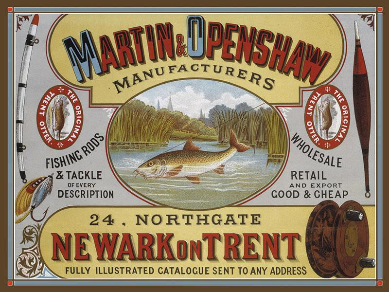 Martin and Openshaw Fishing Rod Sign