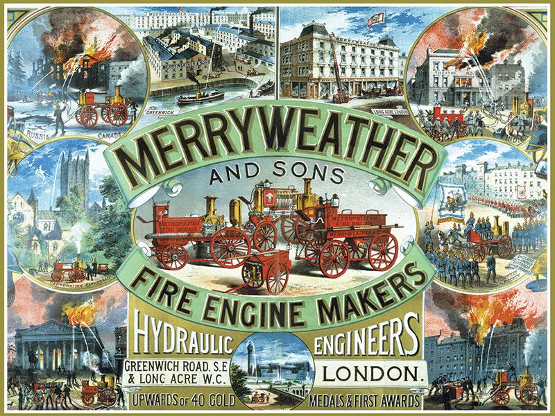Merryweather Fire Engine Sign