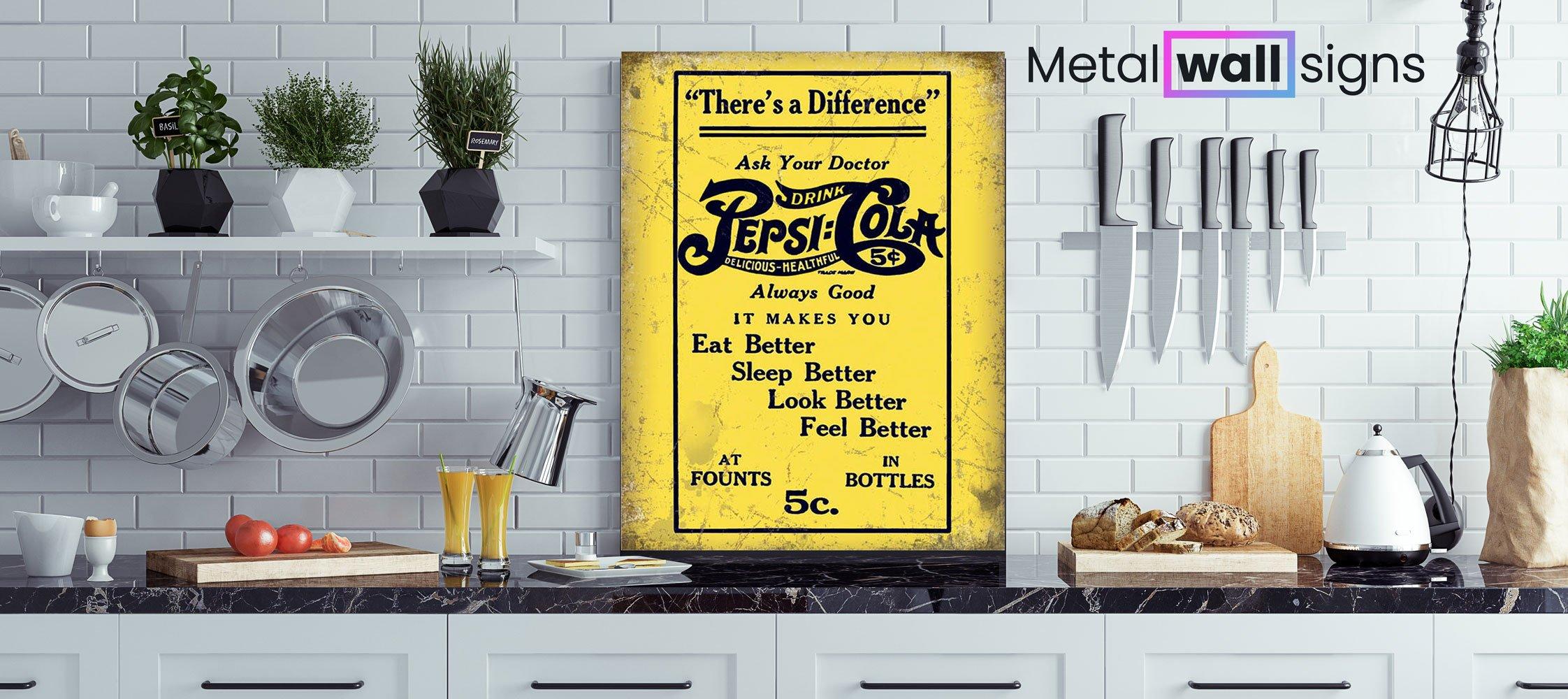 Pepsi-Yellow-Diner-Metal-Wall-Art-MWS