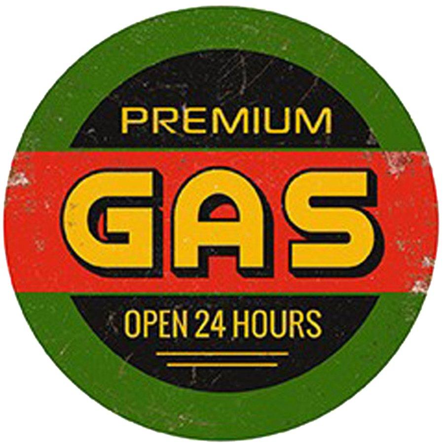 Premium-Gas-Round-Wall-Sign