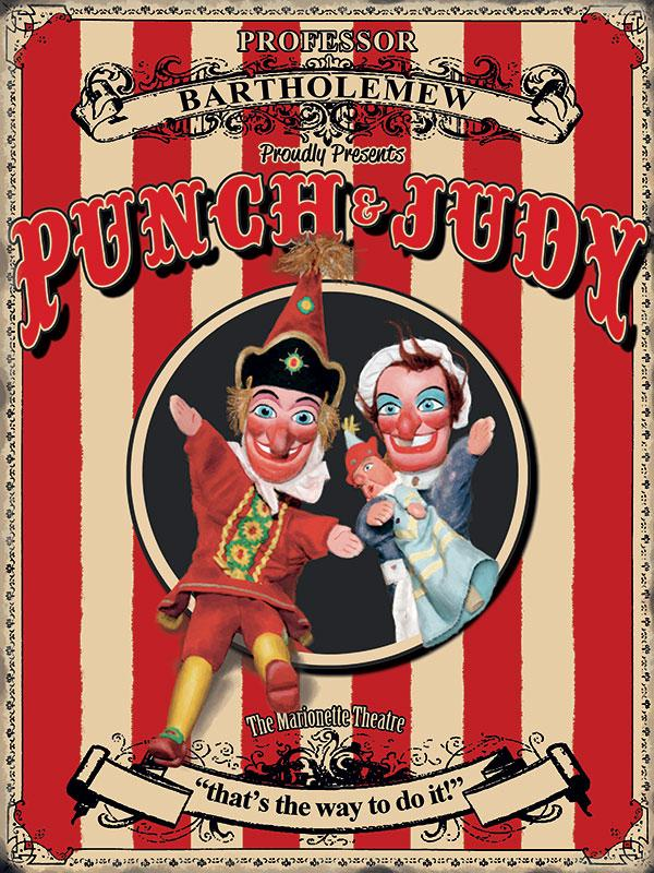 Punch and Judy Wall Sign