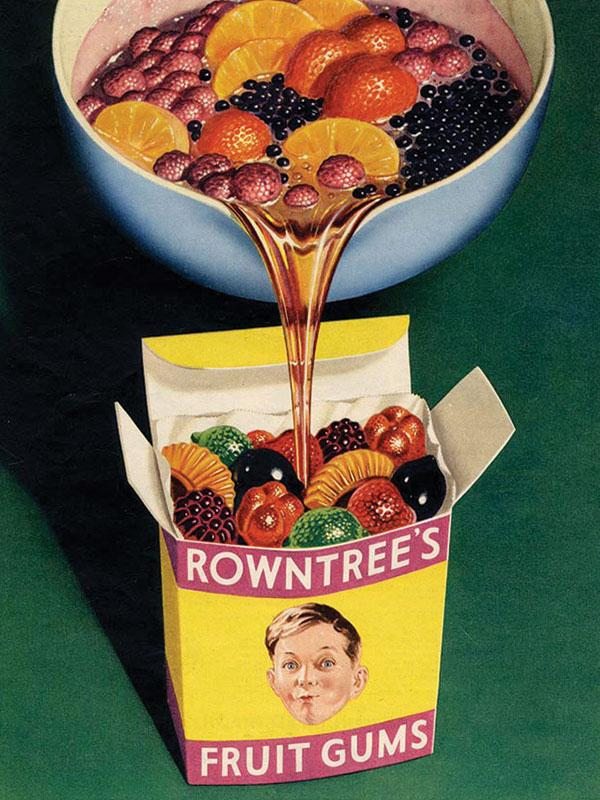 Rowntrees Fruit Gums Wall Sign