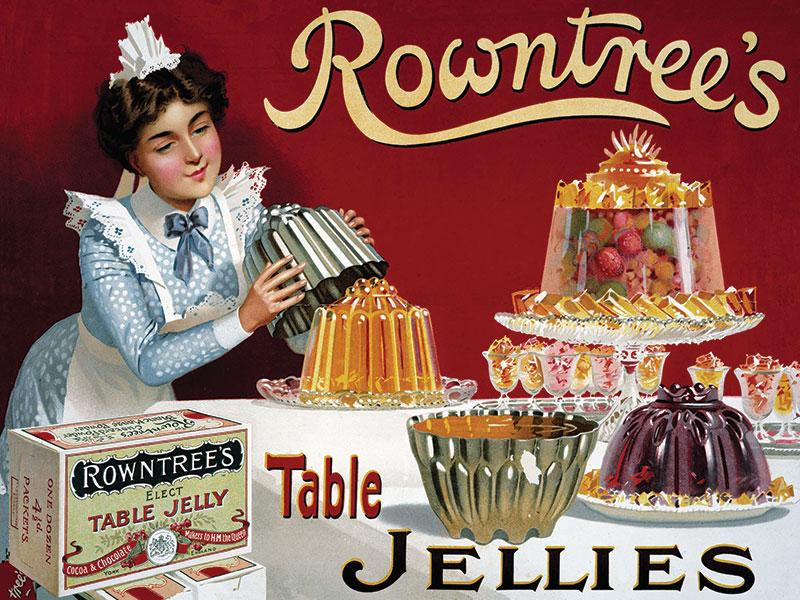 Rowntrees Jelly Metal Wall Sign