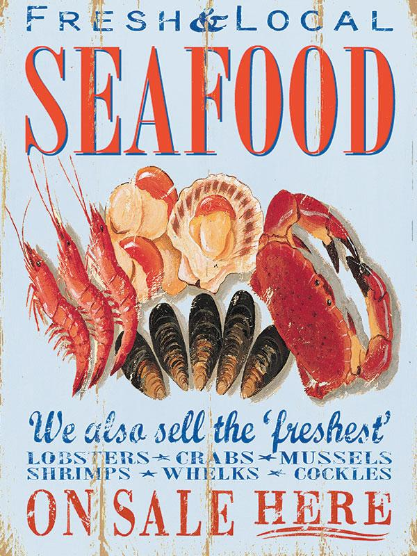 Seafood Wall Sign