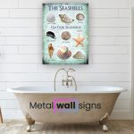 Seashells-Metal-Wall-Art-Sign-MWS