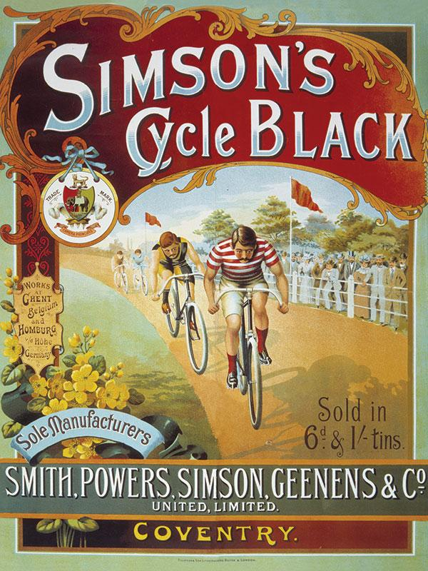 Simpsons Cycle Black Sign