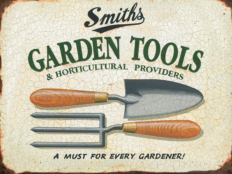 Smiths Garden Tools Metal Wall Sign