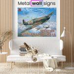 Spitfire-MK1A-Wartime-Wall-Art-Sign-MWS