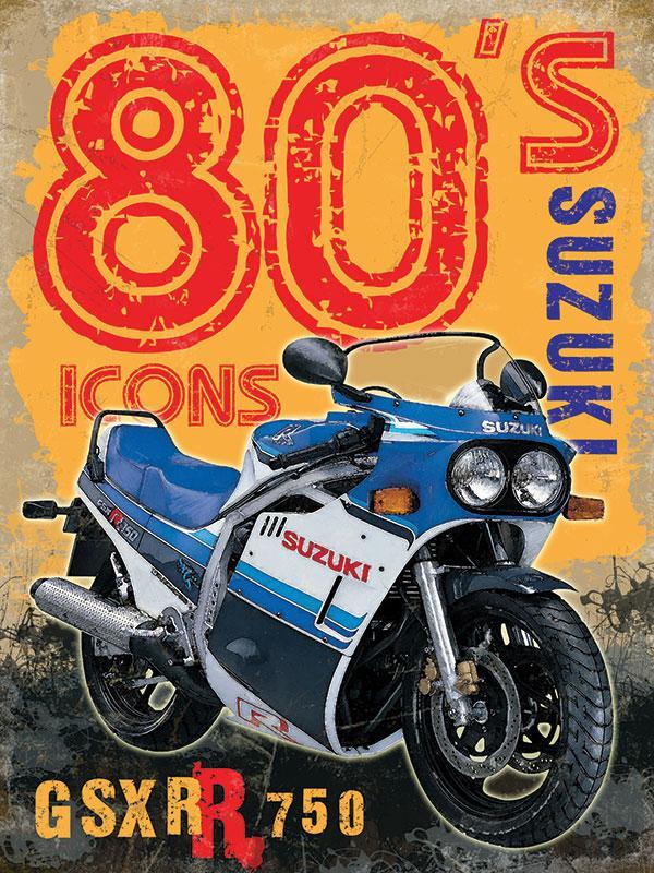 Suzuki GSXR 750 Metal Wall Sign