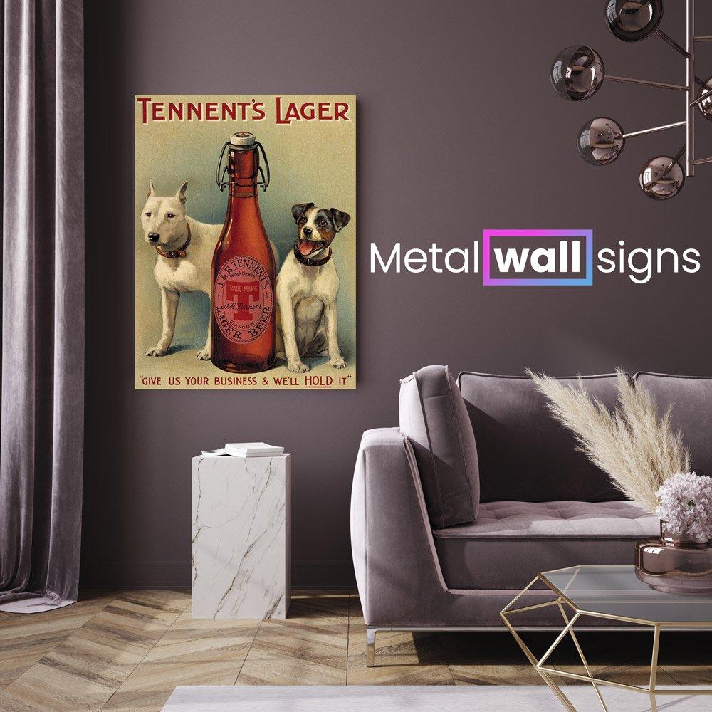 Tennents-Lager-Bar-Pub-Metal-Wall-Art-Sign-MWS