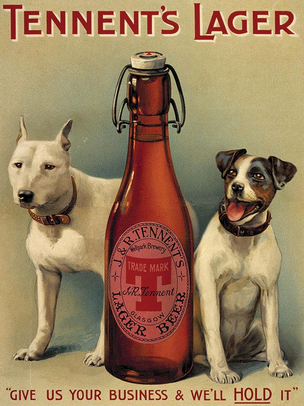 Tennents Lager Beer Sign