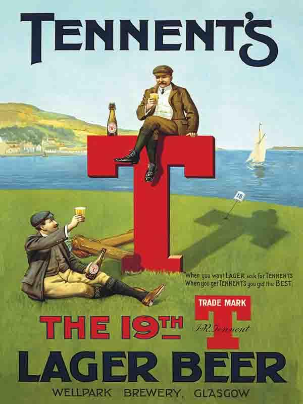 Tennents T Lager Bar Sign