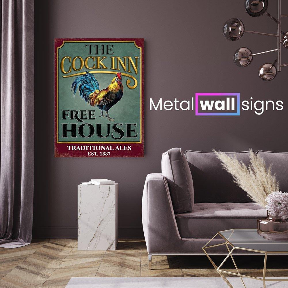 The-Cock-Inn-Pub-Metal-Wall-Art-Sign-MWS