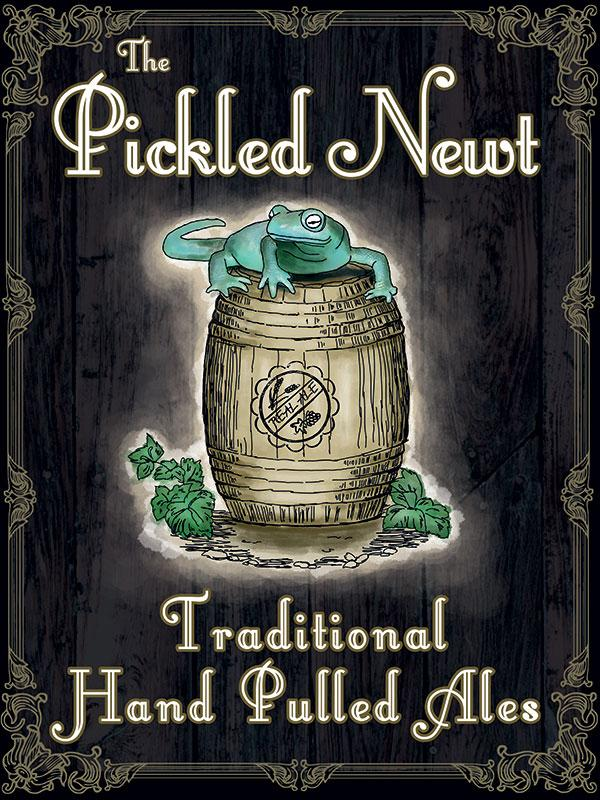 The Pickled Newt Pub Sign