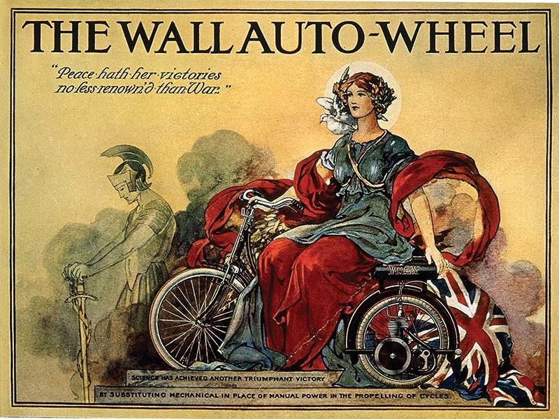 The Wall Auto Wheel Advert Sign