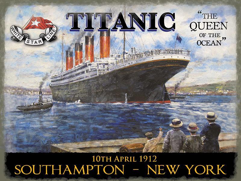 Titanic Queen of the Ocean Metal Wall Sign