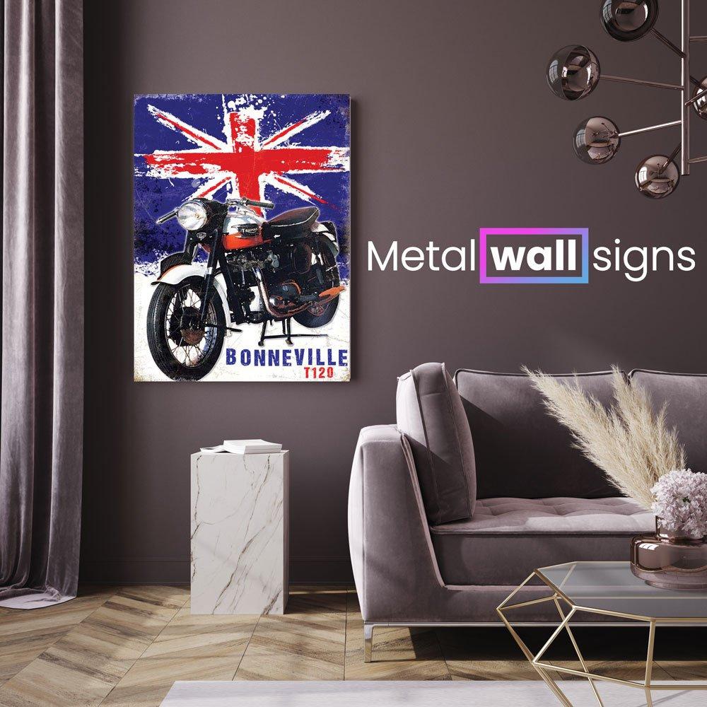Triumph-Bonneville-T120-Metal-Wall-Art-Sign-MWS