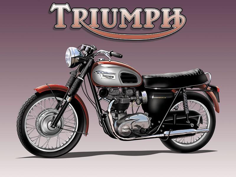 Triumph Motorbike Metal Wall Sign