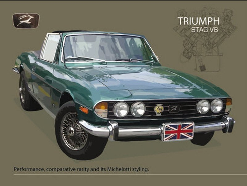 Triumph-Stag-V8-Metal-Wall-Sign