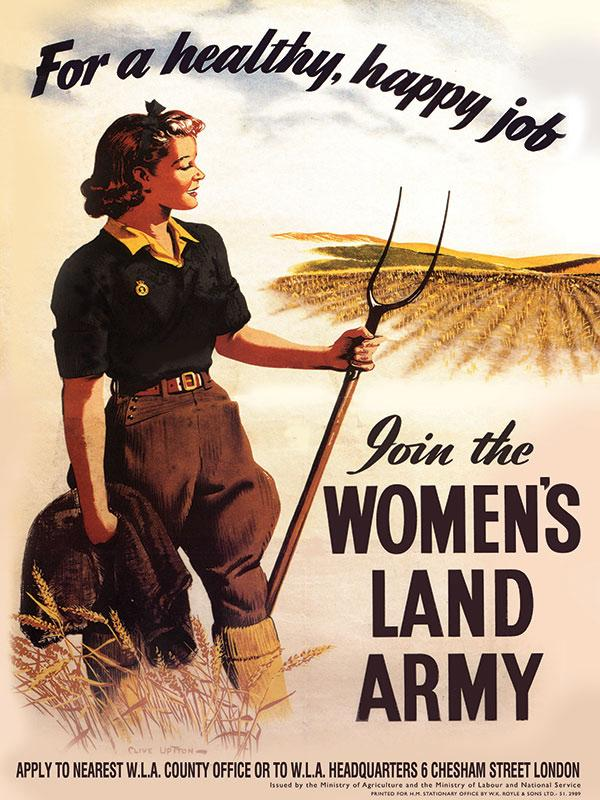 Womens Land Army Sign