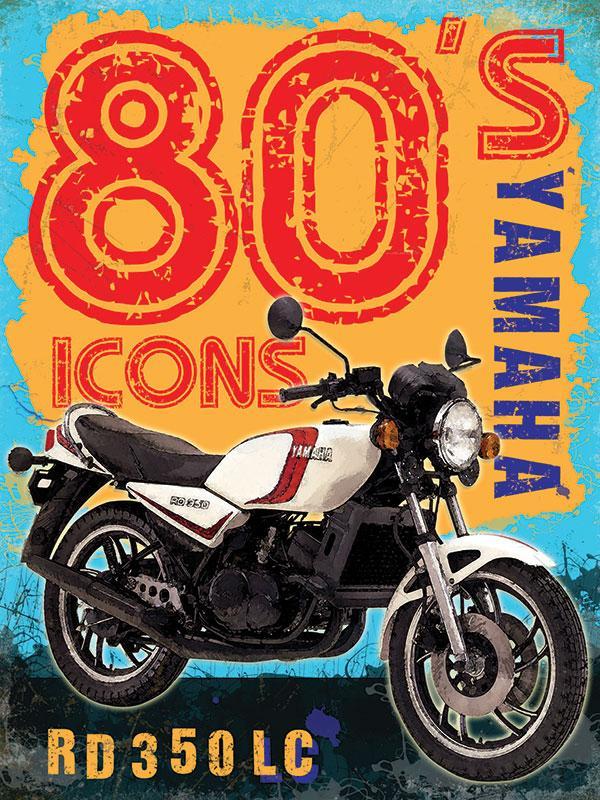 Yamaha RD350LC Metal Wall Sign