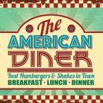 American Diner Metal Wall Art