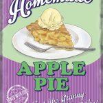 Apple Pie Retro Diner Metal Wall Art