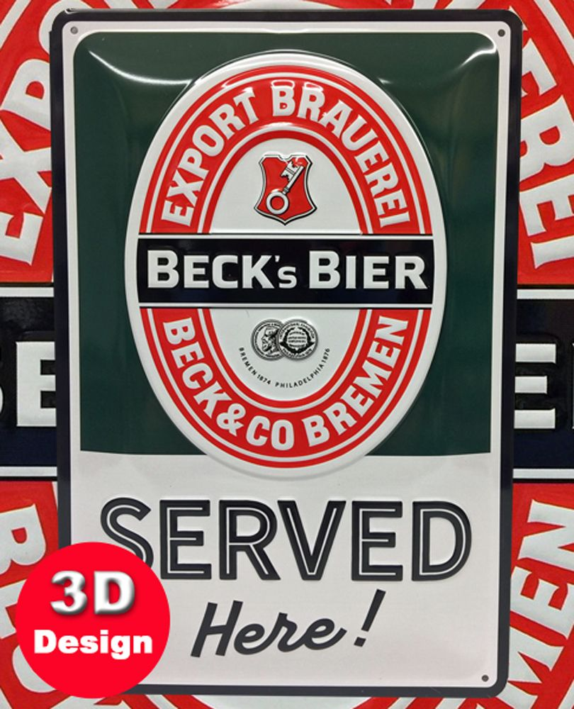 Beck Bier 3D Metal Wall Art