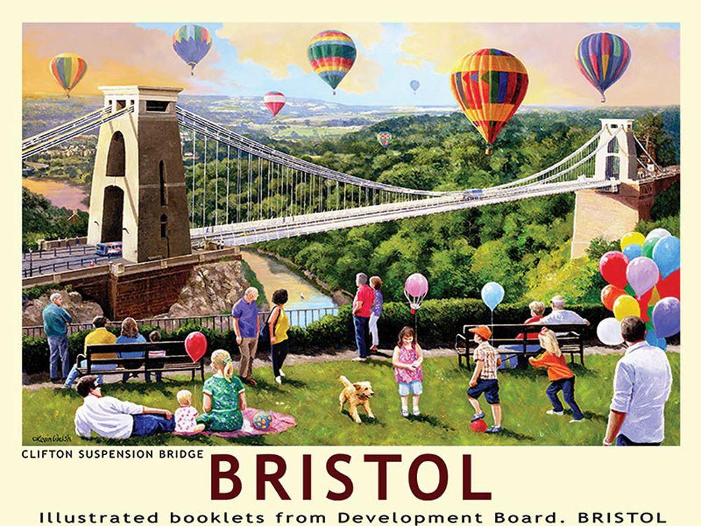 Bristol Railway Poster Metal Wall Art