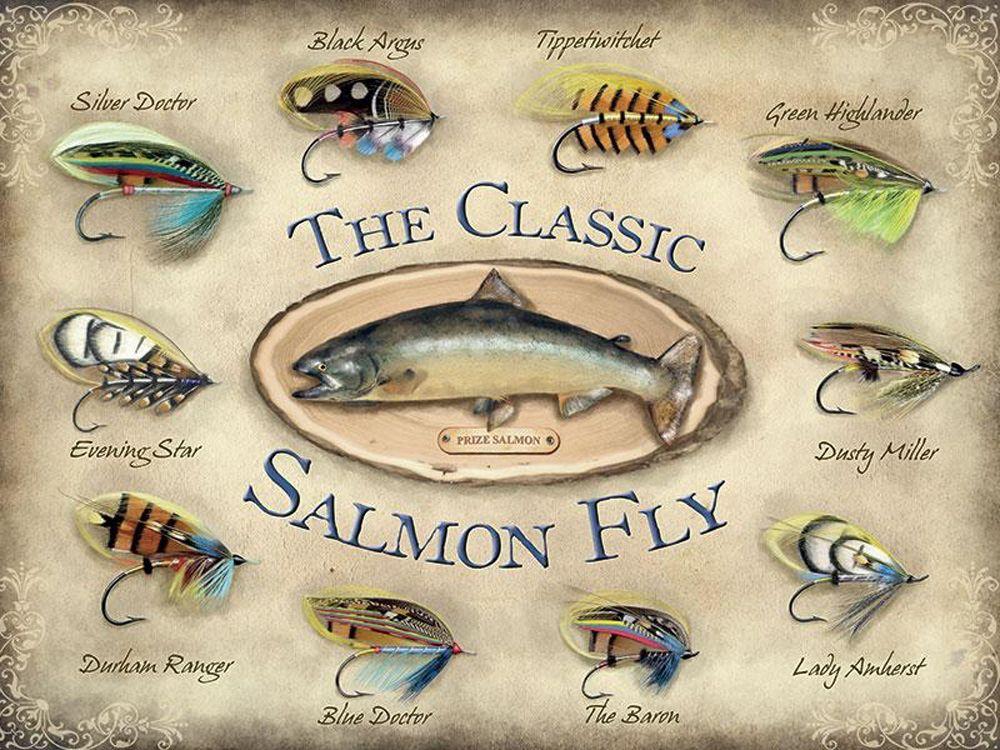Salmon Fly Metal Wall Art