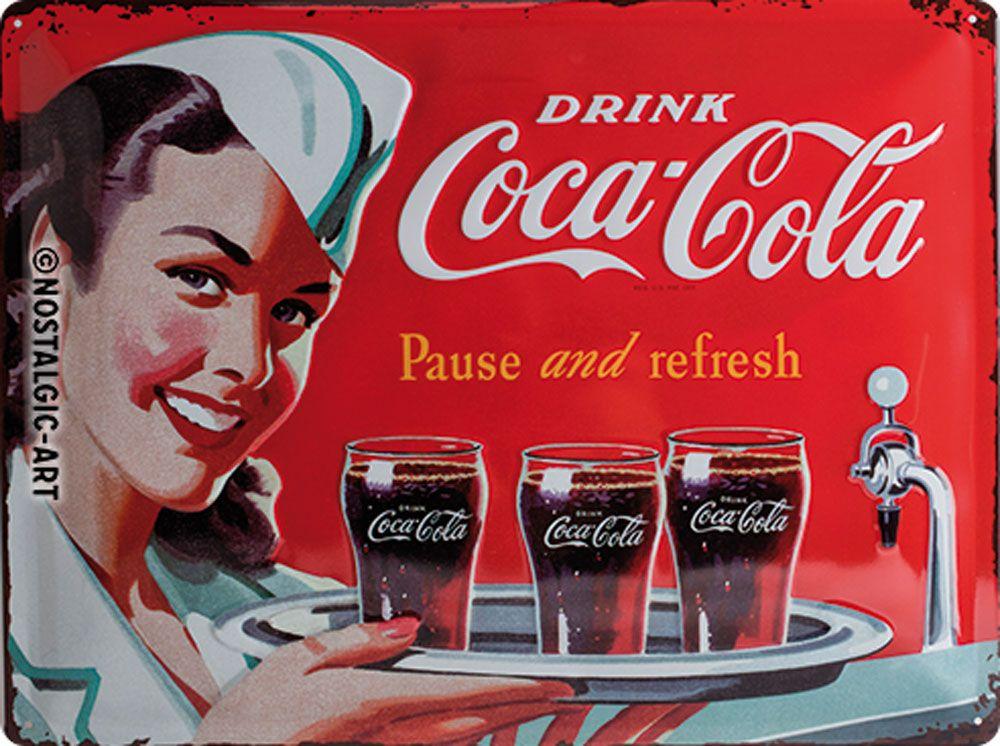 Coca Cola Waitress 3D Metal Wall Art
