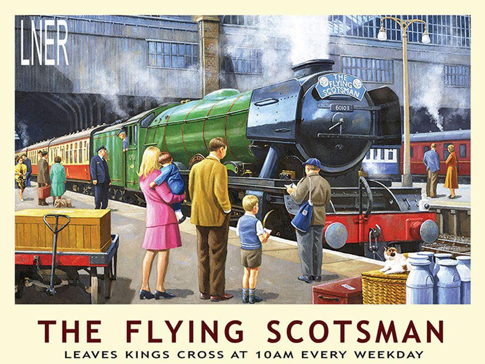 Flying Scotsman at Kings Cross Metal Wall Art