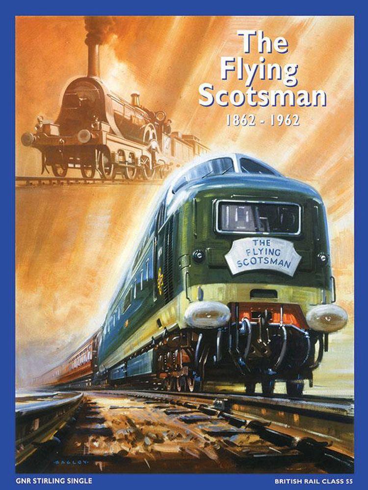 Flying Scotsman Metal Wall Art