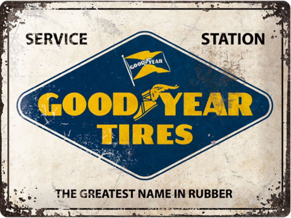 Goodyear Tires Service Station 3D Metal Wall Art