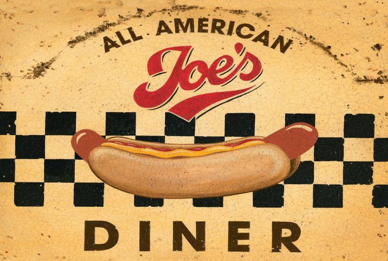 Joe's All American Diner Metal Wall Art