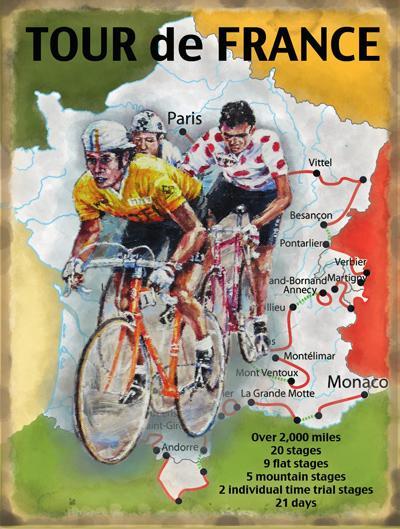 Tour de France Wall Art