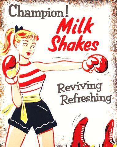 Milkshake Boxing Metal Wall Art