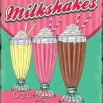 Milkshakes Retro Diner Metal Wall Art