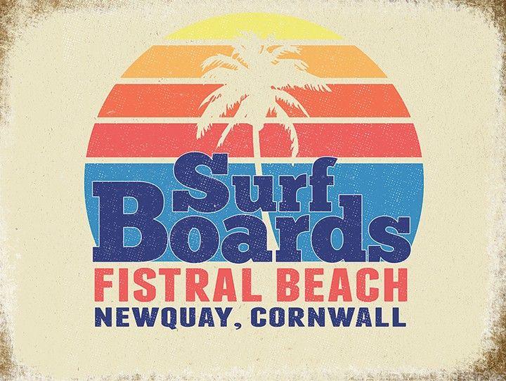 Newquay Surfing Metal Wall Art