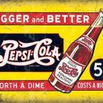 Pepsi Cola 5 Cents Metal Wall Art