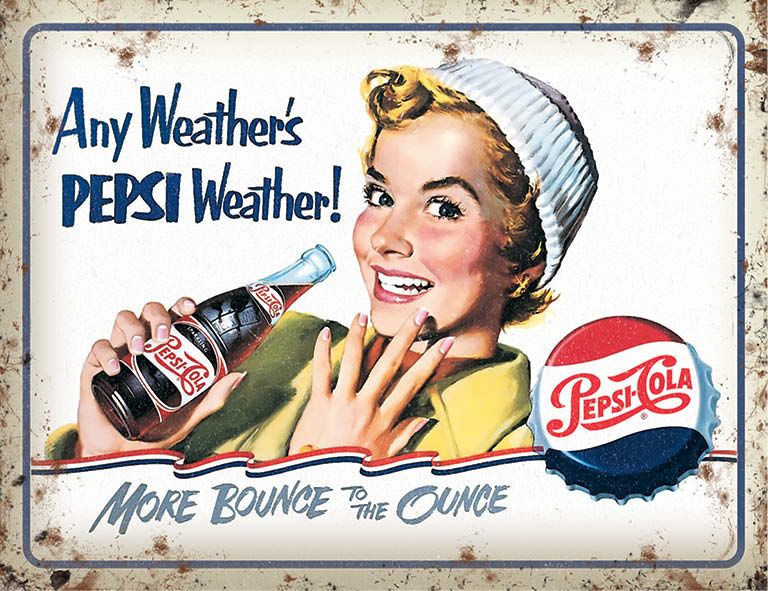 Pepsi Cola Any Weather Metal Wall Art