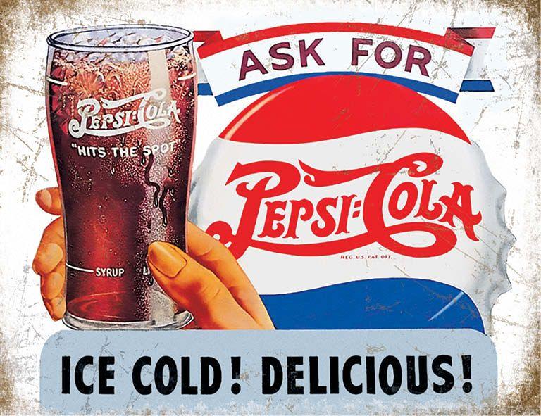 Pepsi Cola Ice Cold Metal Wall Art