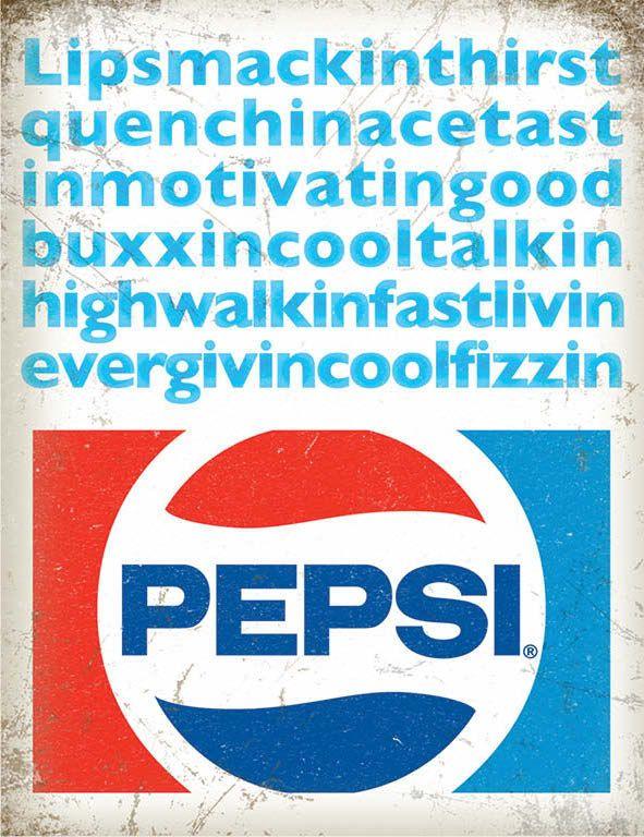 Pepsi Cola Lipsmacking Metal Wall Art