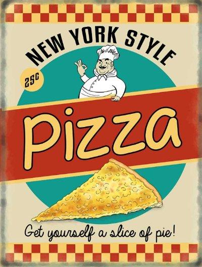 Pizza Retro Diner Metal Wall Art