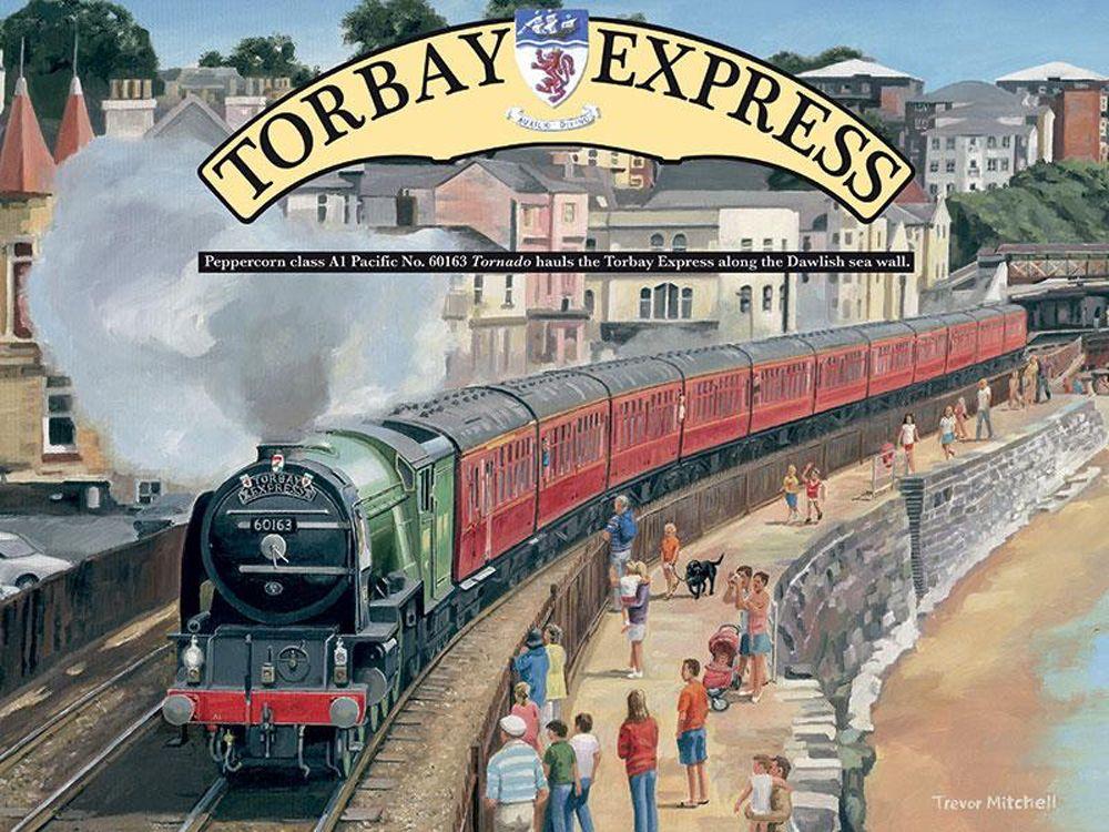 Torbay Express Railway Poster Metal Wall Art