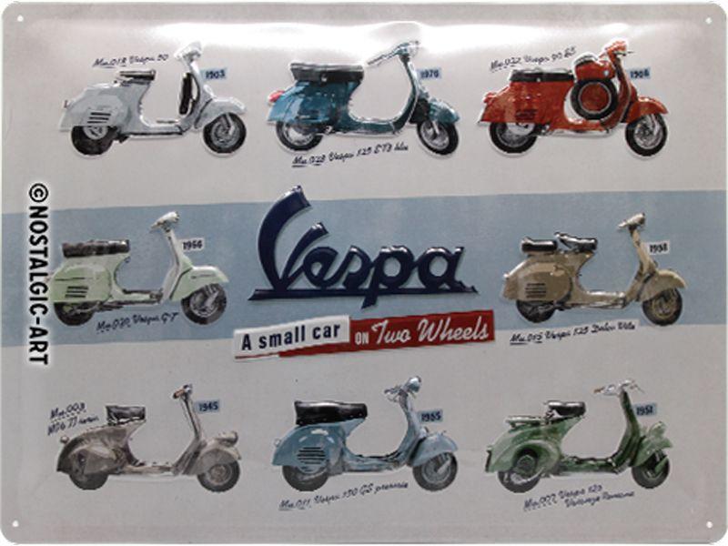 Vespa Scooter Models 3D Metal Wall Art
